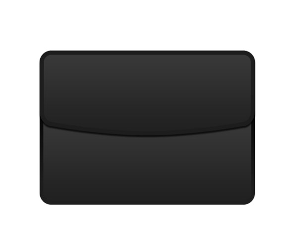 Create black briefcase icon from scratch in Photoshop