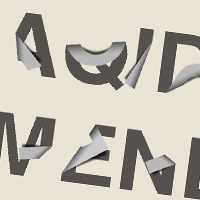 Folding Text Effect with Photoshop