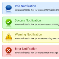 Web Notification Boxes