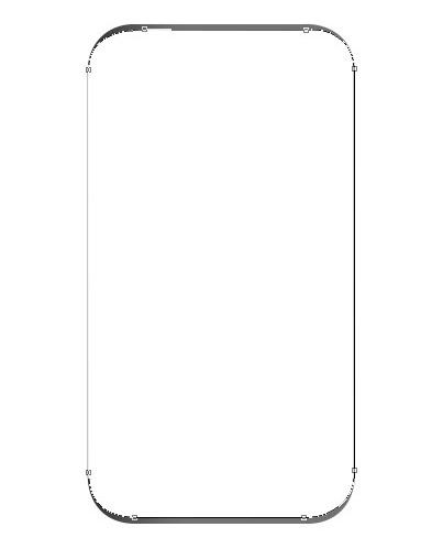 menggunakan rounded rectangle tool pada photoshop untuk membuat shape dan memberi fillshape warna putih