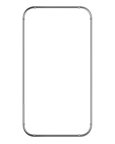 menambahkan shape dan memenuhinya dengan warna putih pada layer baru