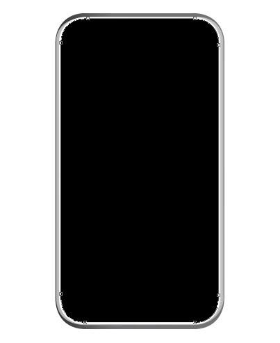 menambahkan shape dan memenuhinya dengan warna hitam pada layer baru