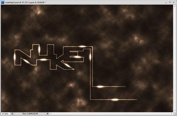 tutorial create light effects in photoshop to typography